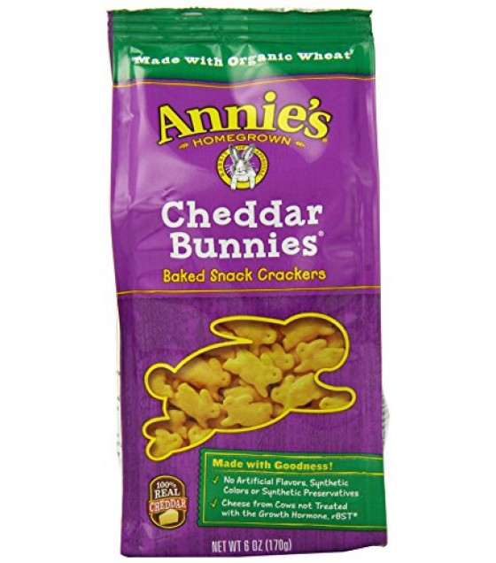 [Annie`S Homegrown]  Cheddar Bunnies  At least 70% Organic