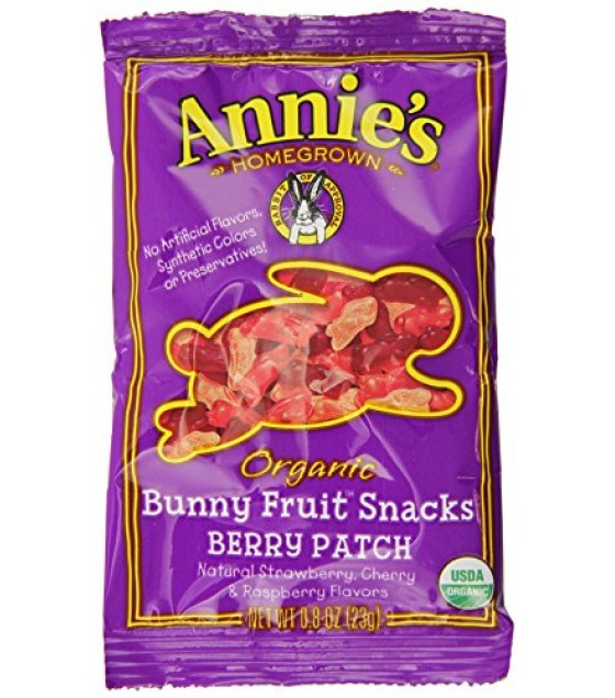 [Annie`S Homegrown] Organic Bunny Fruit Snacks Berry Patch, Single Serve  At least 95% Organic