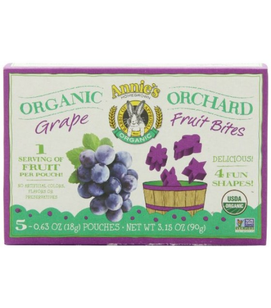 [Annie`S Homegrown] Organic Fruit Bites Grape  At least 95% Organic