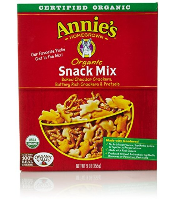[Annie`S Homegrown] Snack Mix Snack Mix Bunnies  At least 95% Organic