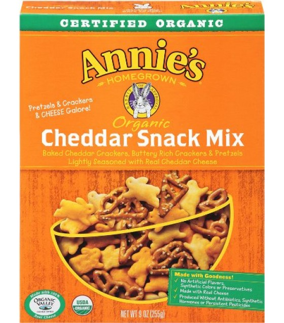 [Annie`S Homegrown] Snack Mix Snack Mix Bunnies, Cheddar  At least 70% Organic