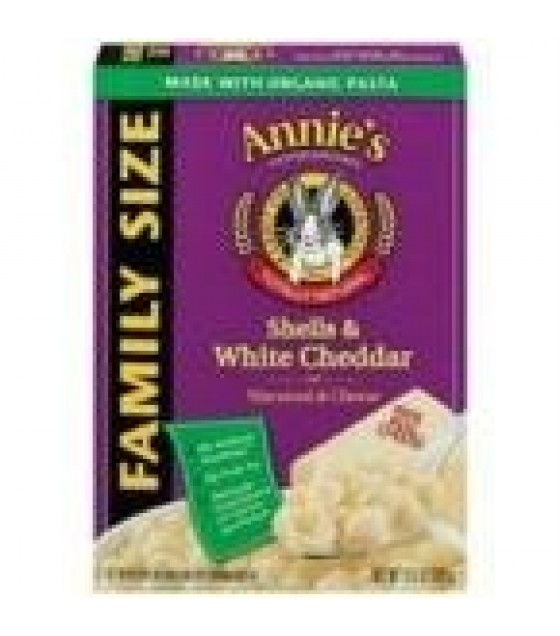 [Annie`S Homegrown] Natural Mac & Cheese Shells & Cheddar, Family Size