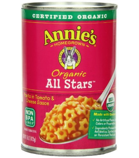 [Annie`S Homegrown] Canned Meals All Stars  At least 95% Organic