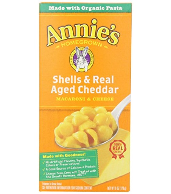 [Annie`S Homegrown] Natural Mac & Cheese Shells & Aged Wisconsin Cheddar  At least 70% Organic