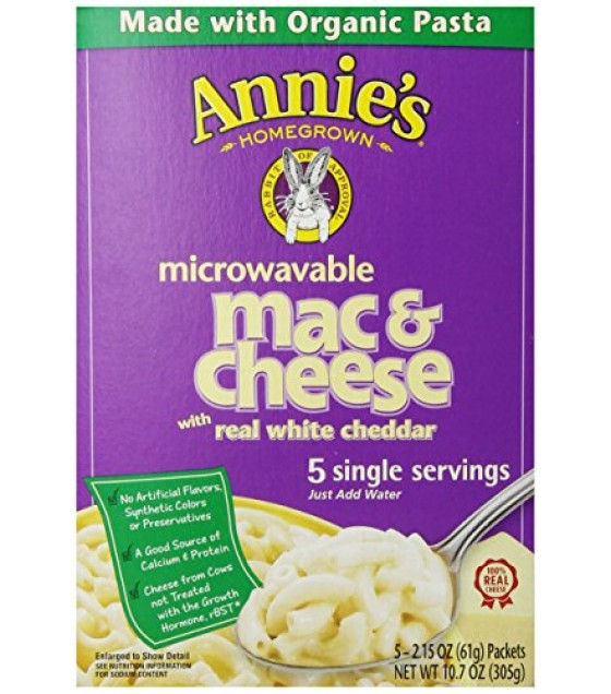 [Annie`S Homegrown] Microwavable Single Servings Mac & Cheese Microwavable  At least 70% Organic