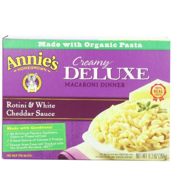 [Annie`S Homegrown] Deluxe Mac & Cheese Rotini & White Cheddar  At least 70% Organic