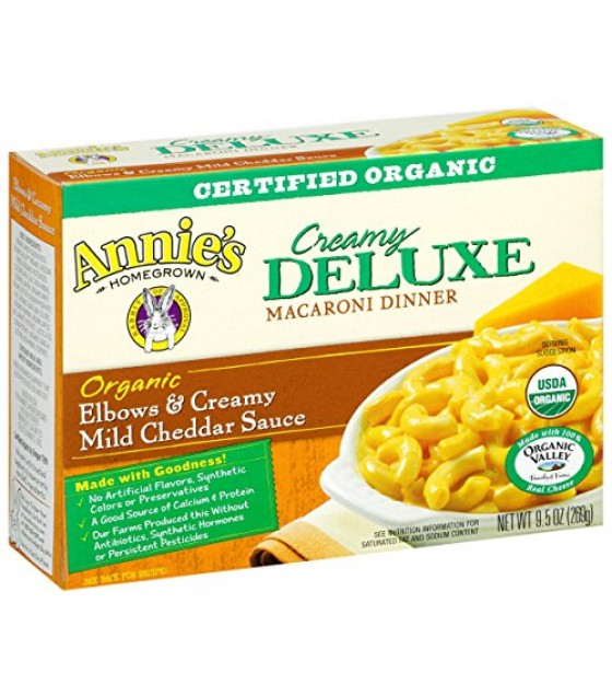 [Annie`S Homegrown] Deluxe Mac & Cheese Elbows & Creamy Mild Cheddar  At least 95% Organic