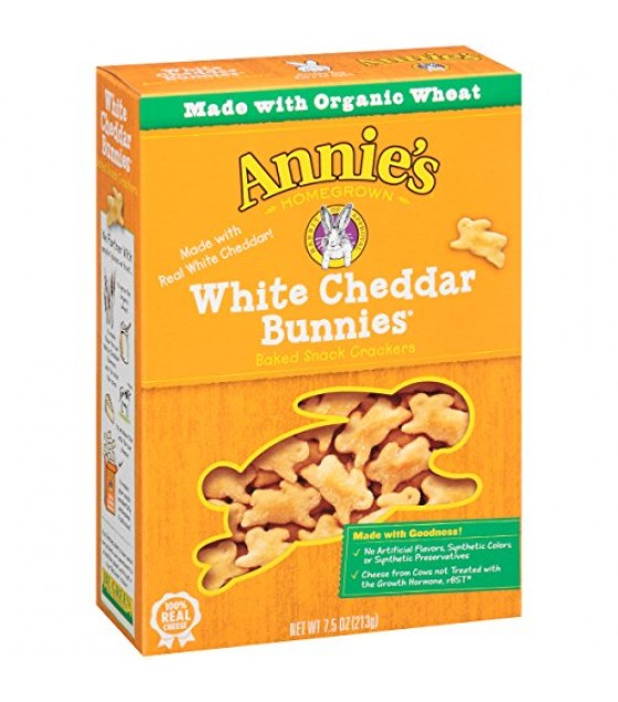 [Annie`S Homegrown] Crackers White Cheddar Bunnies