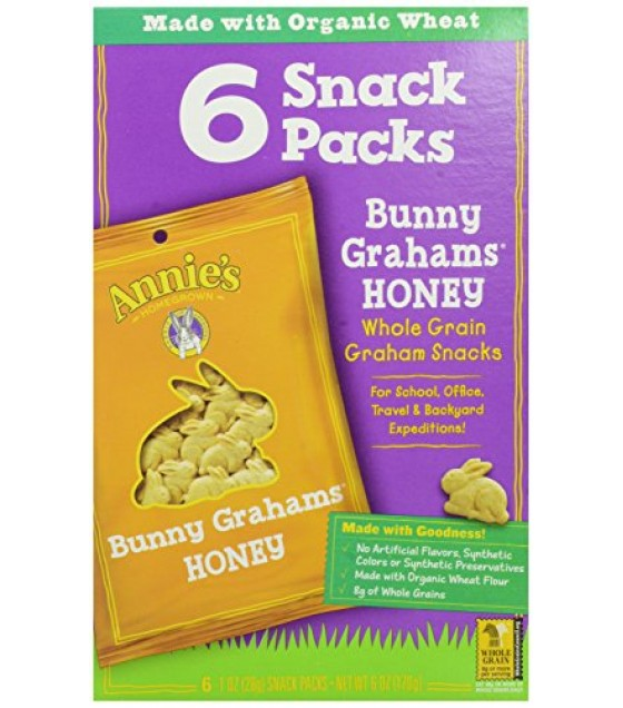 [Annie`S Homegrown] Grahams Bunny, Honey Snack Pack  At least 70% Organic