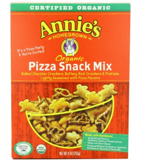[Annie`S Homegrown] Snack Mix Snack Mix, Pizza  At least 95% Organic