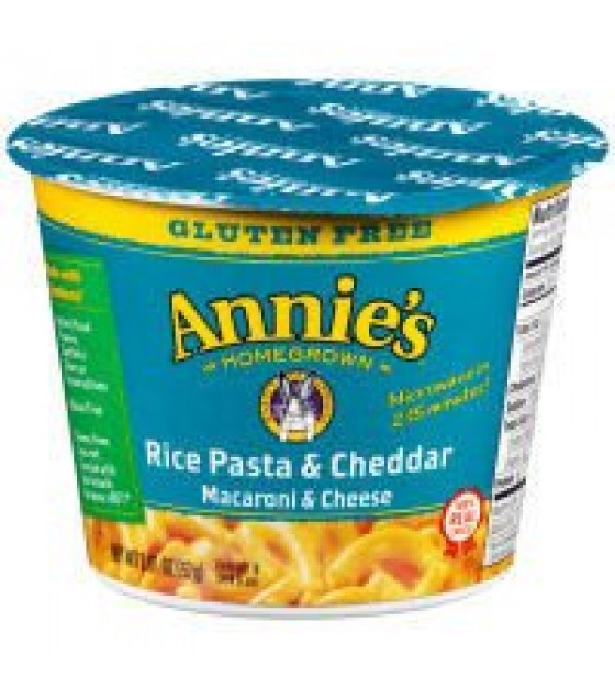 [Annie`S Homegrown] Microwavable Single Servings Rice Pasta & Cheddar GF