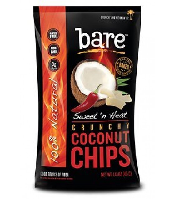 [Bare Fruit] Dried Fruit Coconut Chips, Sweet `N Heat