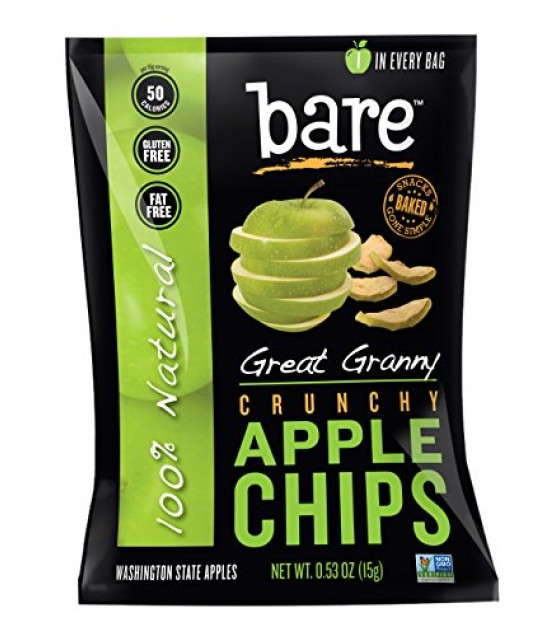 [Bare Fruit] Dried Fruit Chips, Granny Smith Apple