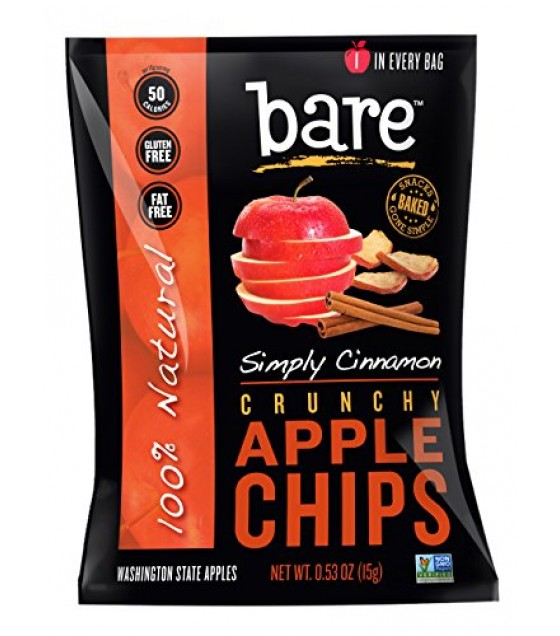 [Bare Fruit] Dried Fruit Chips, Cinnamon Apple