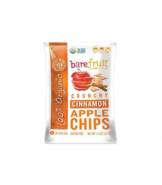 [Bare Fruit] Crunchy Apple Chips Simply Cinnamon  100% Organic