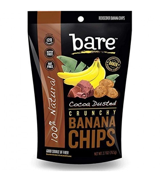 [Bare Fruit] Crunchy Banana Chips Cocoa Dusted