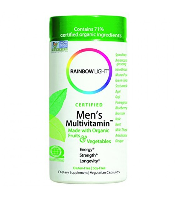 [Rainbow Light] Certified Organic Multivitamins Men`s  At least 70% Organic