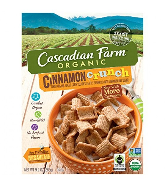[Cascadian Farm] Cereals Cinnamon Crunch  At least 95% Organic