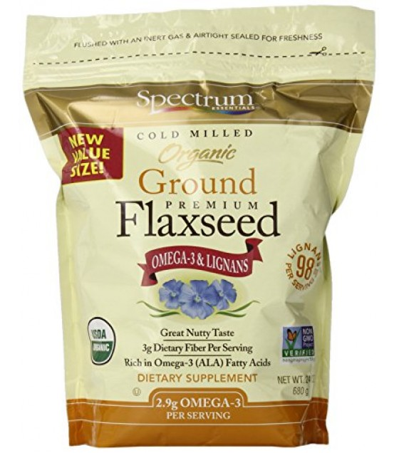 [Spectrum Essentials] Flaxseed Cold Milled, Ground  100% Organic