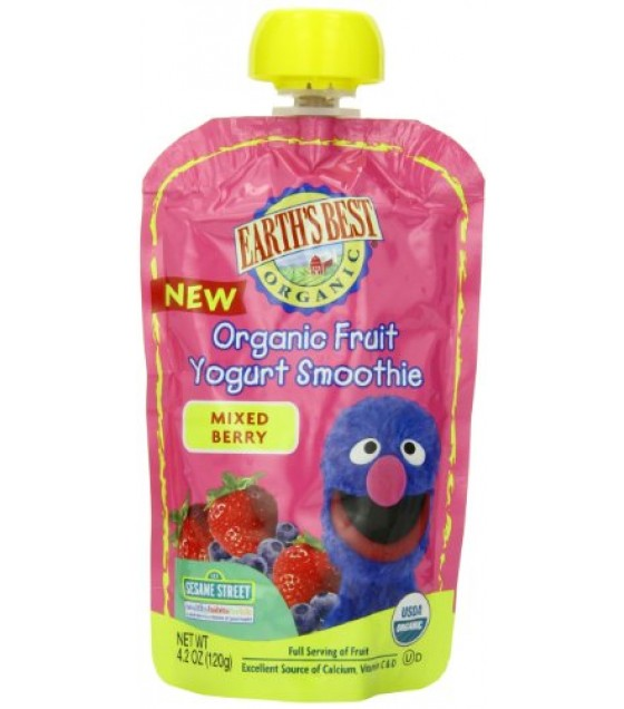 [Earth`S Best Baby Foods] Organic Fruit Yogurt Smoothie Mixed Berry  At least 95% Organic