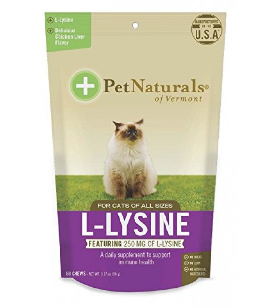 [pet Naturals Of Vermont] L-lysine Chews For Cats