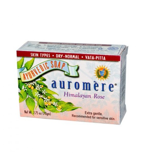 [Auromere Ayurvedic Products] Soap Himalayan Rose
