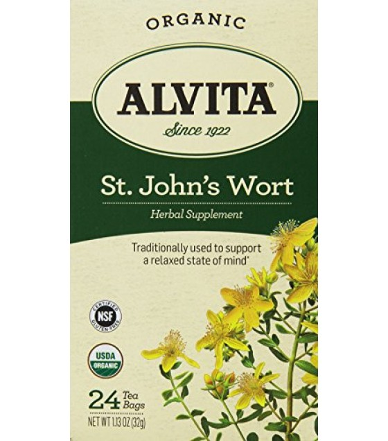 [Alvita Tea] Bag Tea St. Johns Wort  At least 95% Organic
