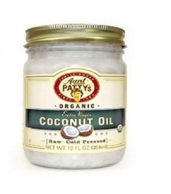[Aunt Patty`S] Coconut Oil Extra Virgin, Raw  At least 95% Organic