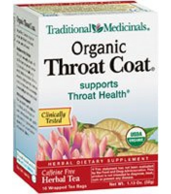 [Traditional Medicinals] Cold & Flu Throat Coat  At least 95% Organic