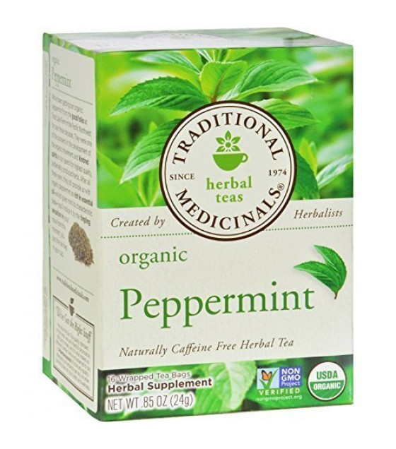 [Traditional Medicinals] Single Herb Peppermint  At least 95% Organic