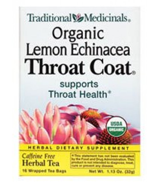 [Traditional Medicinals] Cold & Flu Throat Coat, Lemon Echinacea  At least 95% Organic