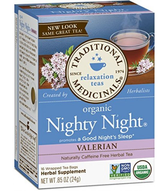 [Traditional Medicinals] Teas Nighty Night, Valerian  At least 95% Organic