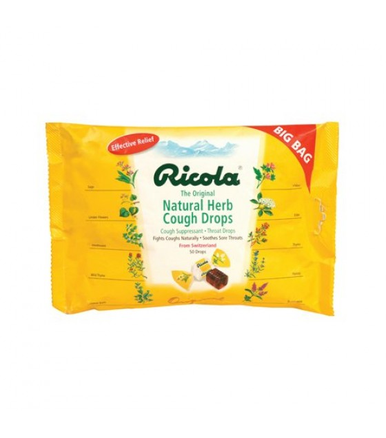 [Ricola] Natural Herb Cough Throat Drops Original, Big Bag