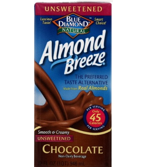 [Almond Breeze] Almond Milk, Non Dairy Beverage Chocolate, Unsweetened
