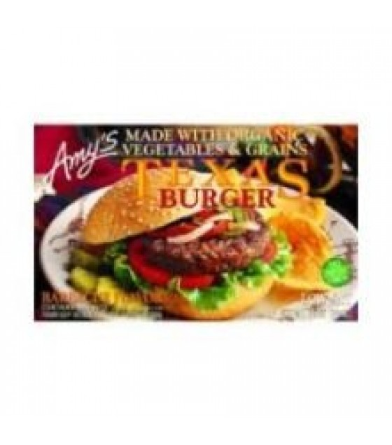 [Amy`S] Veggie Burgers Texas Veggie  At least 70% Organic