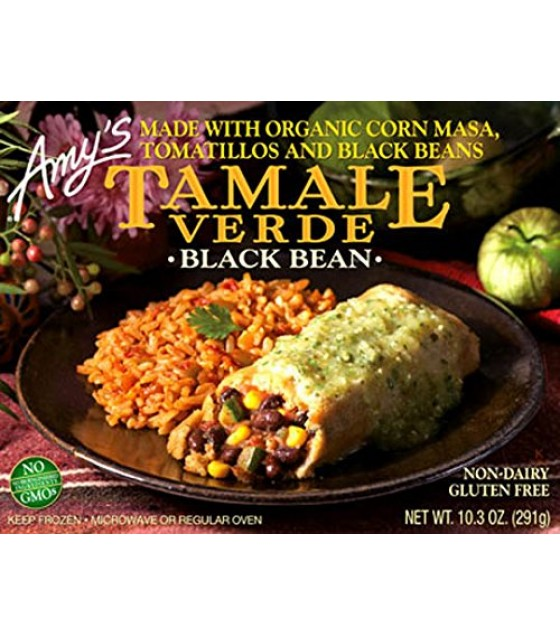 [Amy`S] Whole Meals Whl Meal Tamales, Blk Bean Verde  At least 70% Organic