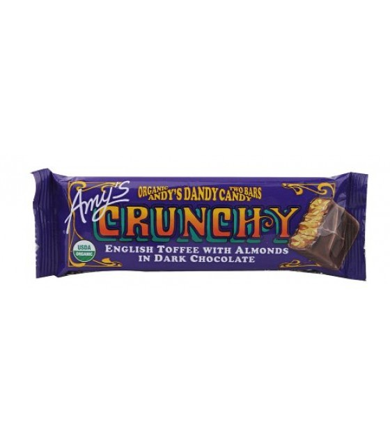 [Amy`S] Candy CRUNCHY, Bar  At least 95% Organic