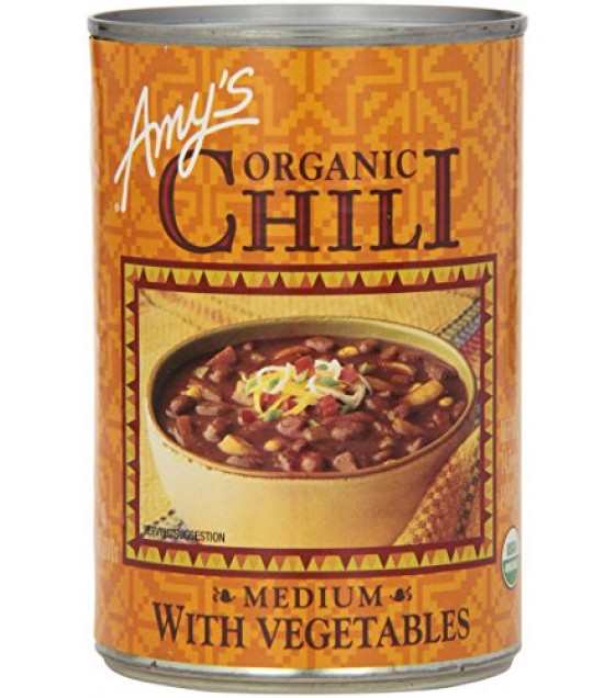 [Amy`S] Chili`s With Vegetables, Medium  At least 95% Organic