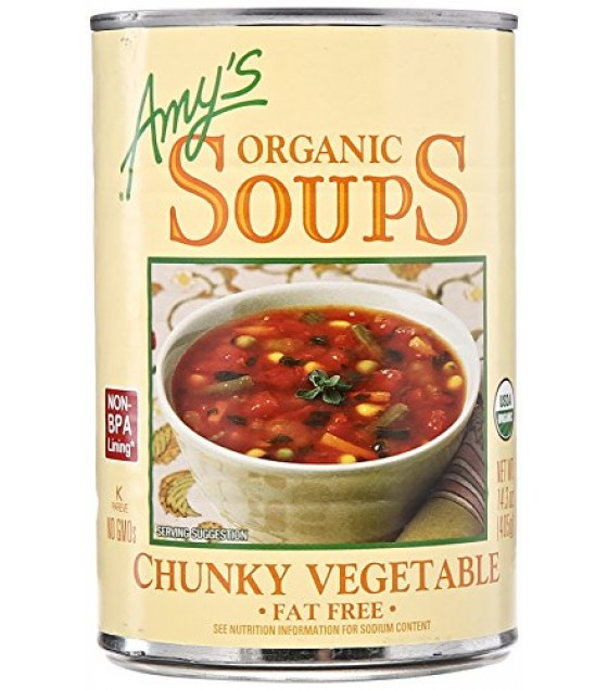 [Amy`S] Soups Vegetable, Chunky  At least 95% Organic