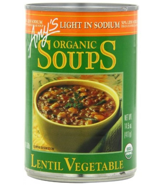 [Amy`S] Soups Lentil Vegetable, LS  At least 95% Organic