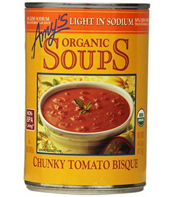 [Amy`S] Soups Chunky Tomato Bisque, LS  At least 95% Organic