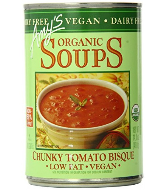 [Amy`S] Soups Chunky Tomato Bisque, Vegan  At least 95% Organic