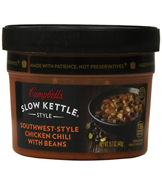 [Campbell] Slow Kettle Style Sthwest Style, Chkn Chili W/Beans