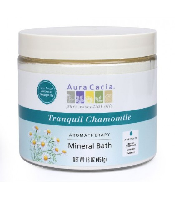 [Aura Cacia] Aromatherapy Mineral Baths Tranquil Chamomile