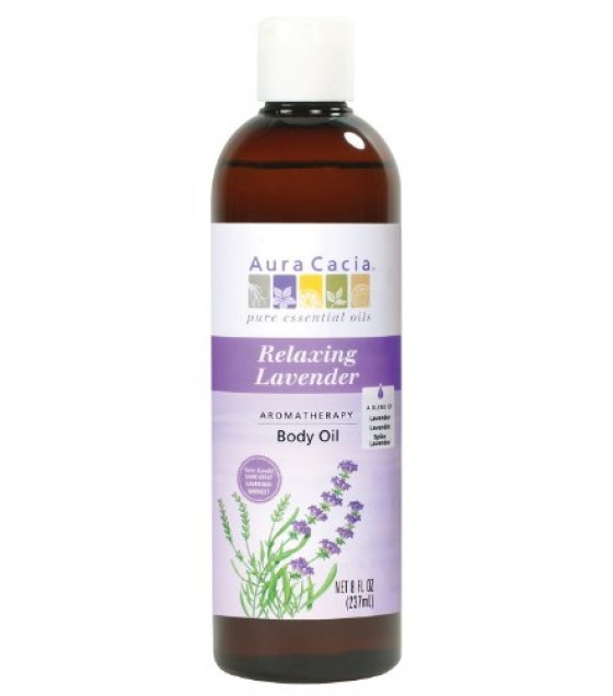 [Aura Cacia] Aromatherapy Bath & Massage Oils Relaxing Lavender Body Oil