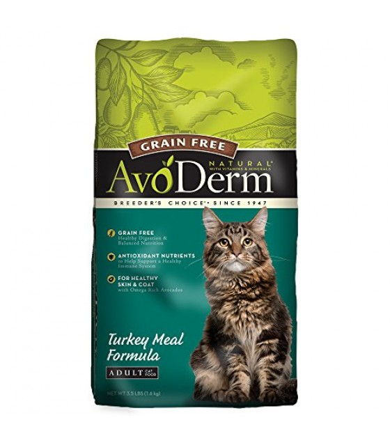 [Avoderm Natural] Cat Food, Dry - Grain Free Turkey Meal Fomula