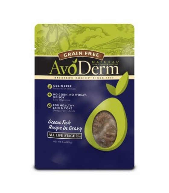 [Avoderm Natural] Cat Food, Wet - Grain Free Ocean Fish Recipe in Gravy