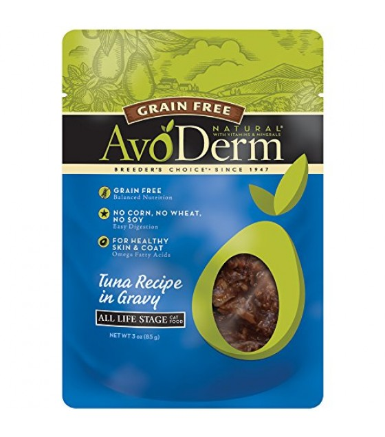 [Avoderm Natural] Cat Food, Wet - Grain Free Tuna Recipe in Gravy