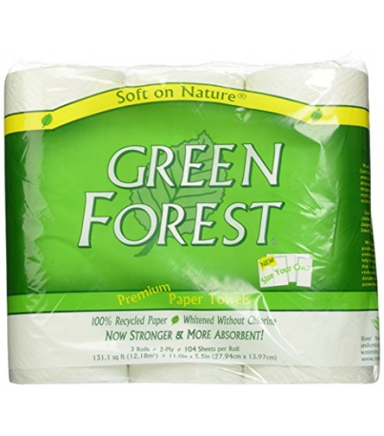 [Green Forest]  Paper Towels, White