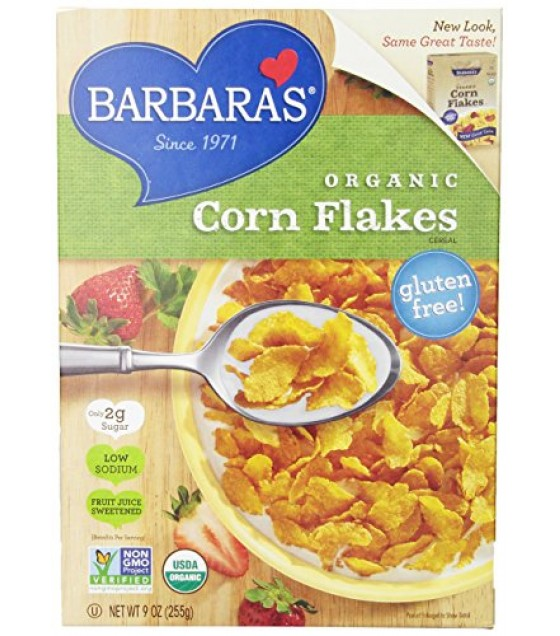 [Barbara`S Bakery] Cereal Corn Flakes, FJS  At least 95% Organic